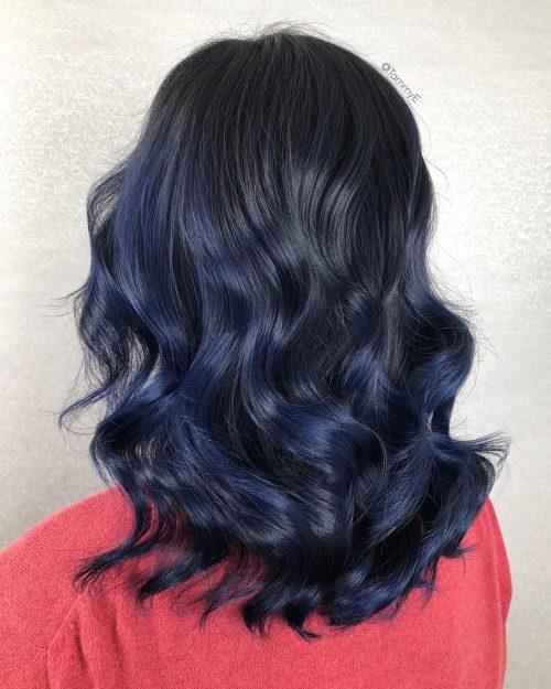 19 Coolest Blue Black Hair Shades
