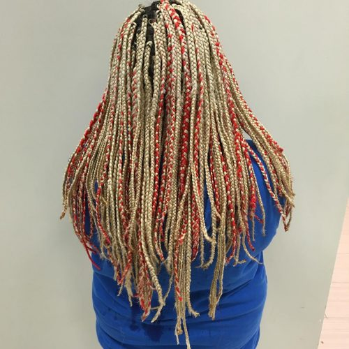 Here are 15 Hot Examples of Red Box Braids
