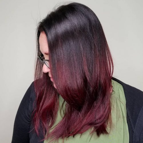 28 Blazing Hot Red Ombre Hair Color Ideas