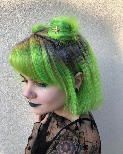 15 Modern Crimped Hair Ideas from The 80's and 90's