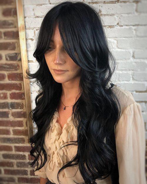 17 Trendiest Long Layered Hair With Bangs