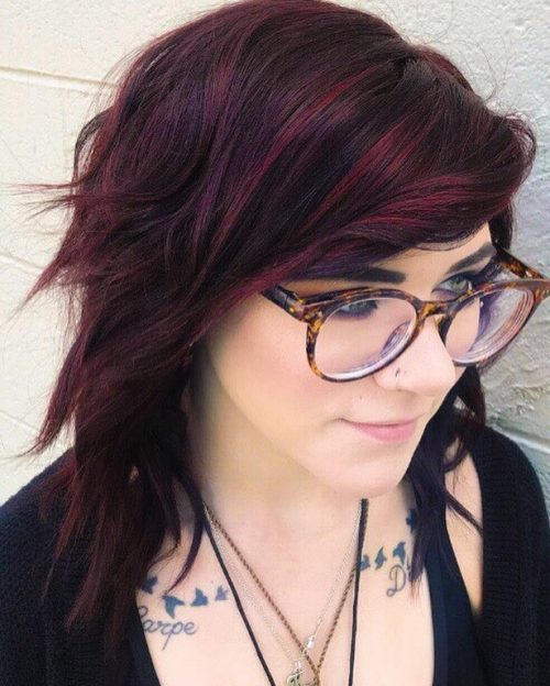 23 Best Red and Black Hair Color Ideas: Ombre, Highlights and Balayage
