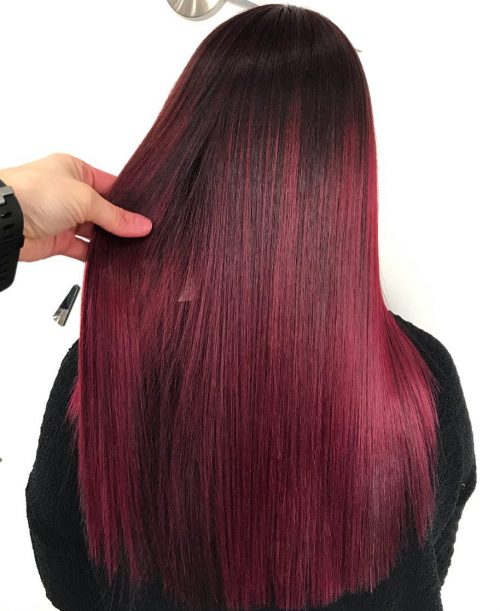 22 Hottest Red Purple Hair Color Ideas To Try This Year