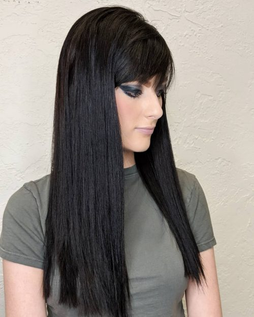 23 Best Examples of Long Hair with Side Bangs