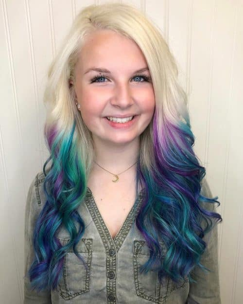 23 Incredible Examples of Blue and Purple Hair Colors