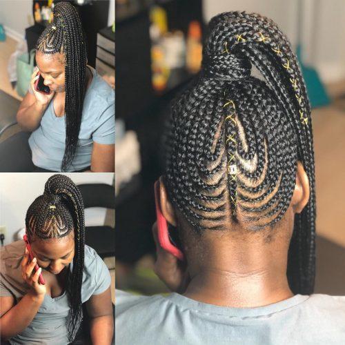 17 Hot Styles – Braided Ponytail for Black Hair