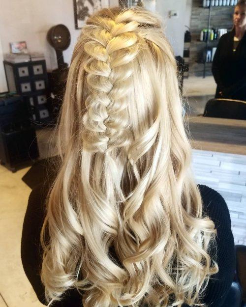 27 Prettiest Half Up Half Down Prom Hairstyles