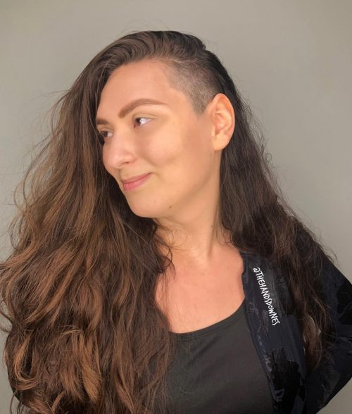 14 Edgy Long Hair with Shaved Sides Undercuts for Women