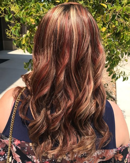 15 Hottest Brown Hair with Red Highlights You'll Ever See