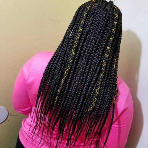 These Box Braids Hairstyles Are Totally Hot Right Now