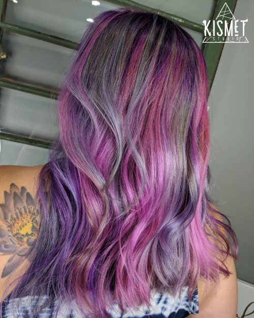 17 Hottest Silver Purple Hair Colors Are Right Here