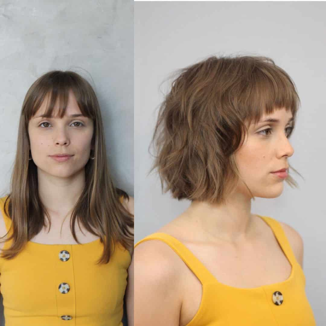 17 Shaggy Bob with Bangs Haircut Ideas for The Modern, Retro Girl