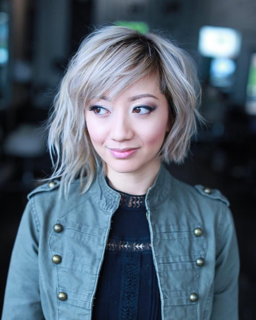 23 Short Hair With Bangs Trending Right Now