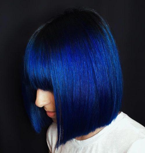 The Top 14 Dark Blue Hair Color Ideas