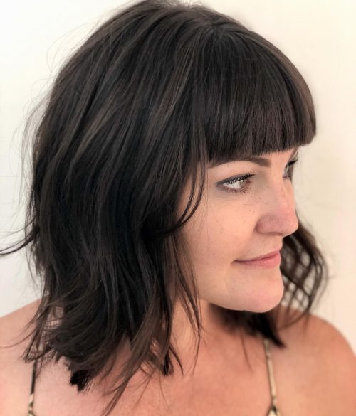 18 Best Layered Hair with Bangs for 2021