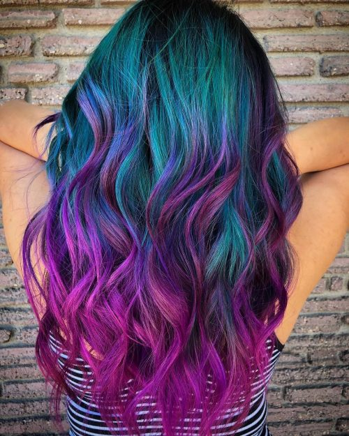 24 Incredible Galaxy Hair Color Ideas