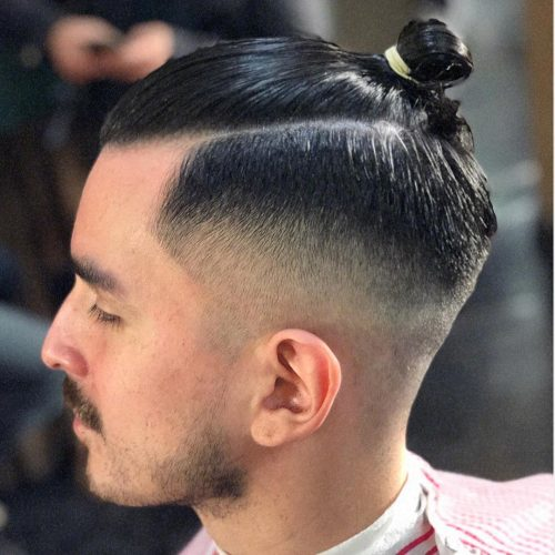 11 Awesome Man Bun Hairstyles With a Fade