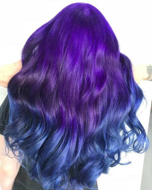 28 Incredible Examples of Blue Ombre Hair Colors